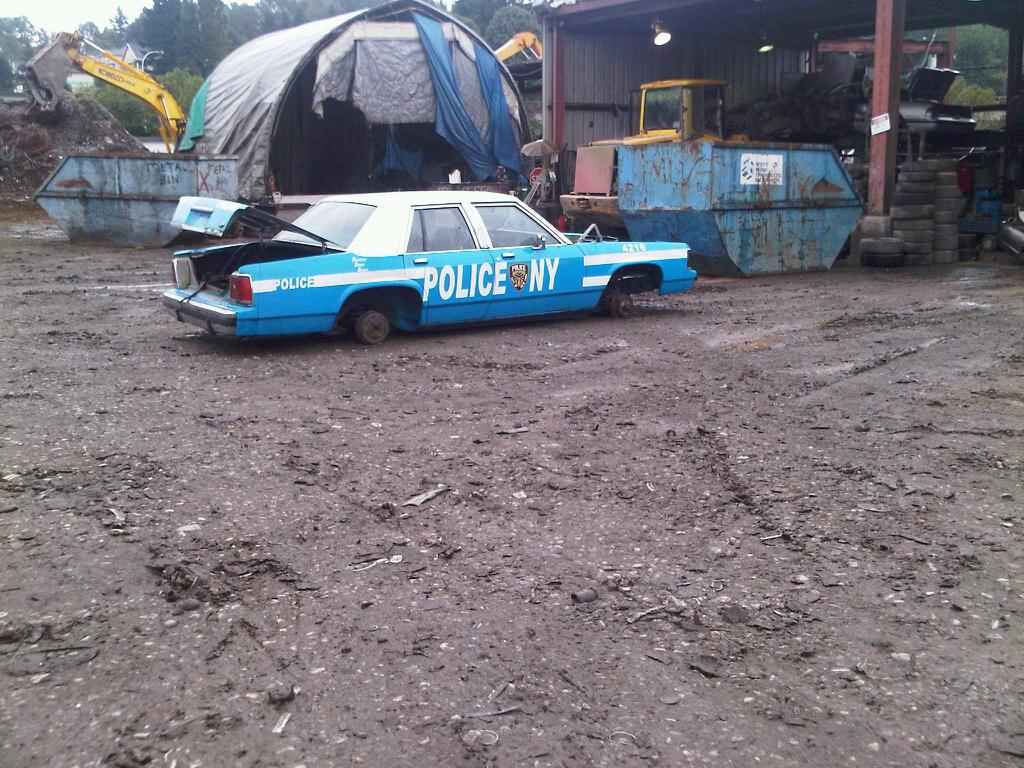NYPD Car In Surrey Removed for Scrap | Scrap4Cash : Junk Car ...