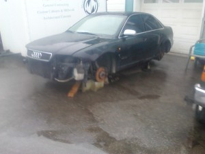 1999 Audi Quatro No Engine Recycled for scrap